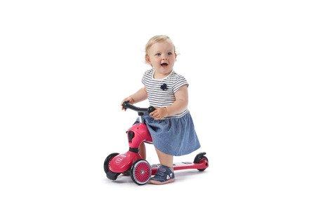 SCOOTANDRIDE Highwaykick 2w1 Jeździk i hulajnoga 1-5 lat Pink