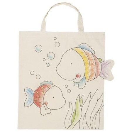 Bawełniana torba z rybkami do kolorowania, Goki
