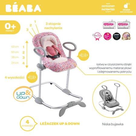 "Beaba ""Bouncer Up&Down III"" Leżaczek pink"