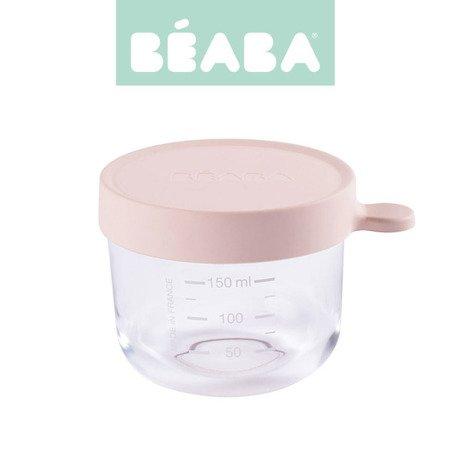Beaba babycook Pojemnik słoiczek szklany z hermetycznym zamknięciem 150 ml pink