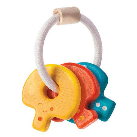 Drewniana grzechotka, klucze, Plan Toys®