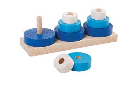 Drewniana układanka, 9el., Plan Toys