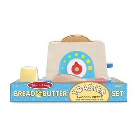 Drewniany Toster z chlebem i masłem