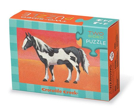 Dwustronne puzzle, motyw konie, Crocodile Creek