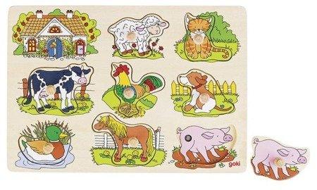 Dźwiękowa układanka, zwierzęta wiejskie, Goki