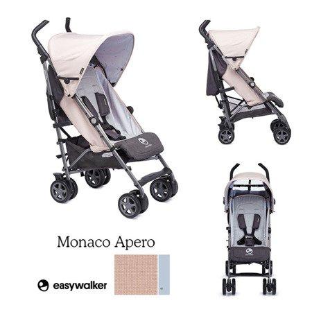 Easywalker Buggy+ Wózek spacerowy z osłonką przeciwdeszczową Monaco Apero kolekcja 2018