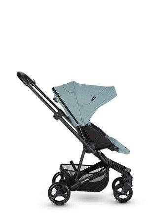 Easywalker Charley Wózek głęboko-spacerowy Glacier Blue z czarnymi kołami (zawiera stelaż, siedzisko z budką i pałąkiem)