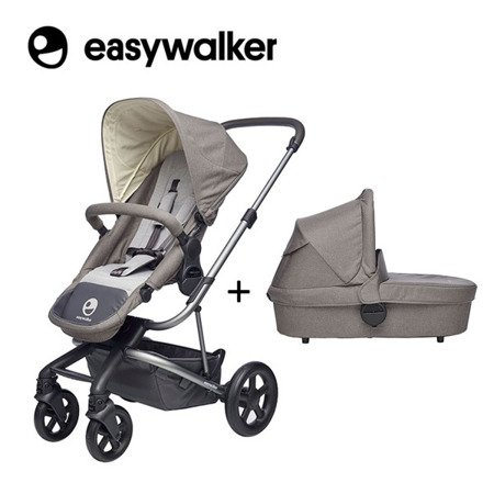 Easywalker Harvey Wózek głęboko-spacerowy Steel Grey (zawiera stelaż, siedzisko z budką i pałąkiem)