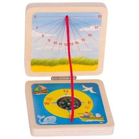 Kieszonkowy zegar słoneczny z kompasem
