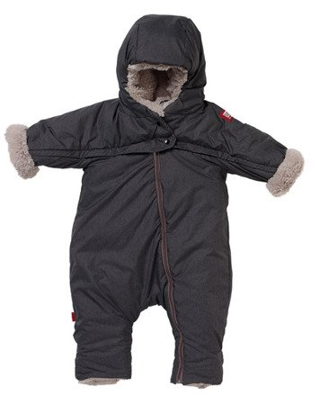 Kombinezon zimowy Combi T-ZIP 6-12m Heather Grey Red Castle