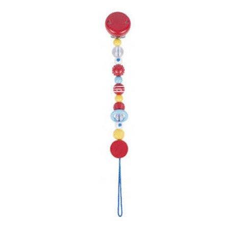Łańcuszek do smoczka, wzór różowy, Heimess 737150