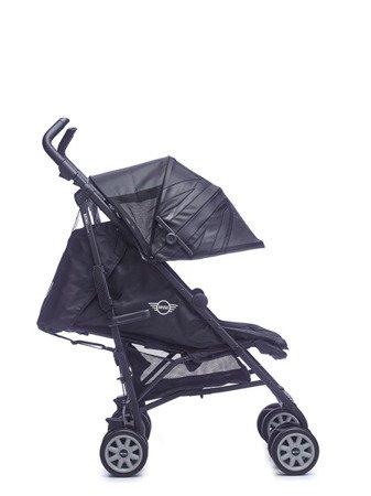 MINI by Easywalker Wózek spacerowy z osłonką przeciwdeszczową  XL Midnight Jack