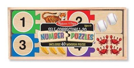 Melissa and Doug, Puzzle Drewniane Nauka Liczenia, 4+