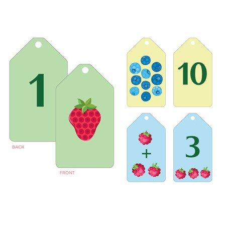 Mudpuppy Karty do nauki cyferek i liczenia Fiszki Owoce i warzywa 1+
