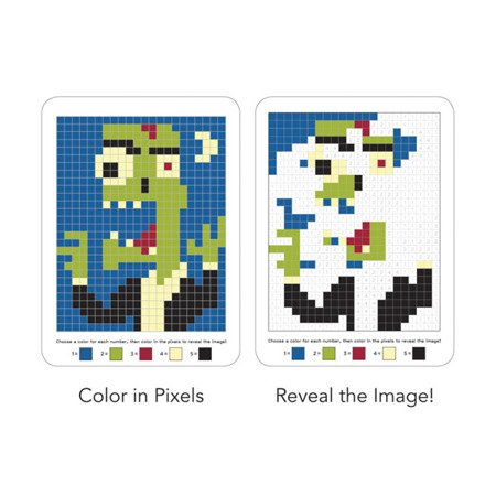 Mudpuppy Kolorowanka piksele Potwory 6+