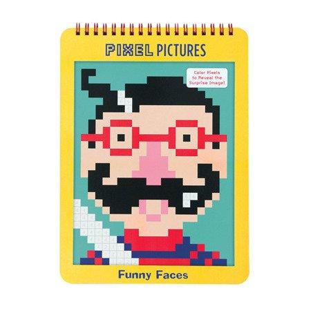 Mudpuppy Kolorowanka piksele Śmieszne buźki 6+