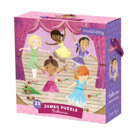 Mudpuppy Puzzle podłogowe Jumbo Baletnice 25 elementów 2+