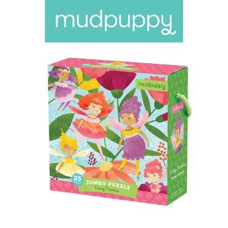 Mudpuppy Puzzle podłogowe Jumbo Wróżki 25 elementów 2+