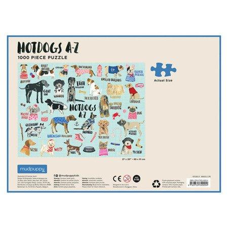 Mudpuppy Puzzle rodzinne 1000 Hot Dogs 8+