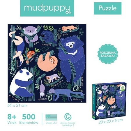 Mudpuppy Puzzle rodzinne Drzemka w drzewach 500 elementów 8+