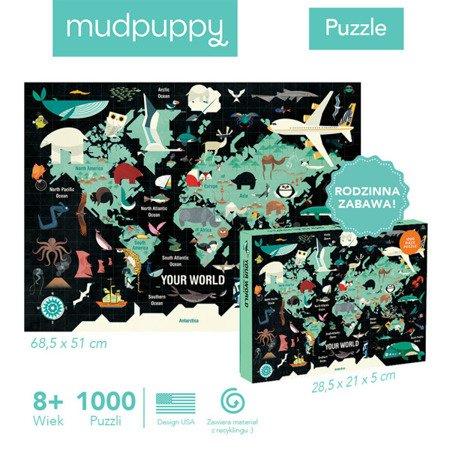 Mudpuppy Puzzle rodzinne Twój Świat 1000 elementów 8+