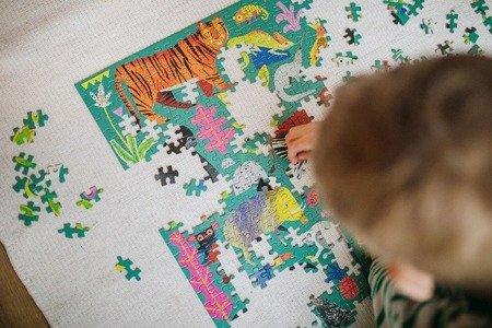 Mudpuppy Puzzle rodzinne Zwierzęta z lasu deszczowego 500 elementów 8+