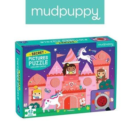 Mudpuppy Puzzle z ukrytymi obrazkami Zamek jednorożca 42 elementy 3+