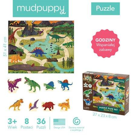 Mudpuppy Puzzle zestaw z 8 figurkami Dinozaury 3+