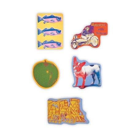 Mudpuppy Zestaw drewnianych magnesów Andy Warhol 35 elementów