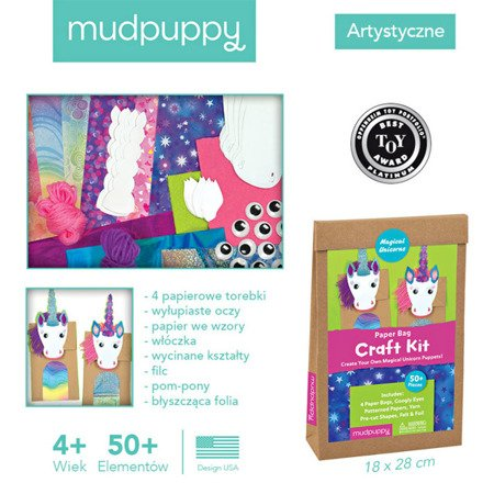 Mudpuppy Zestaw kreatywny Kukiełki Magiczne Jednorożce 4+