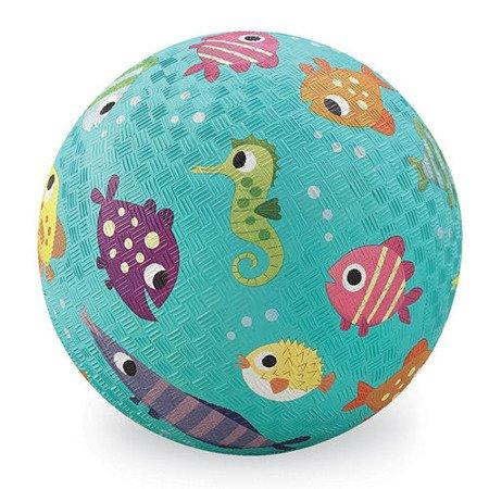 Piłka 7'', 18cm, wzór Rybki, Crocodile Creek