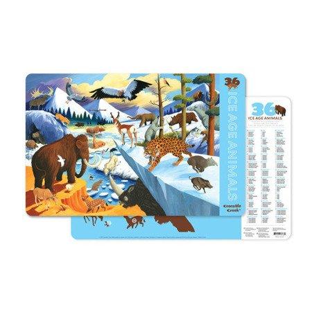 Podkładka, motyw 36 zwierząt epoki lodowcowej, Crocodile Creek 2843-8
