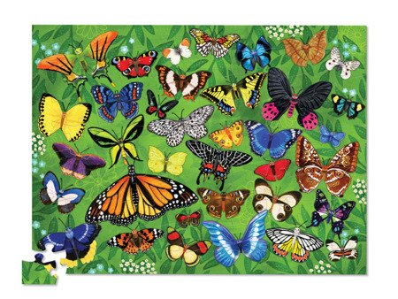 Puzzle 100el., motyw motyle, Crocodile Creek