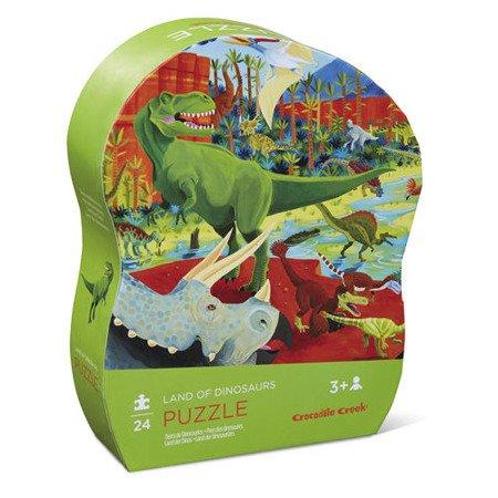 Puzzle 24 el., Ziemia dinozaurów, Crocodile Creek