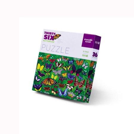 Puzzle 300el., motyle, Crocodile Creek