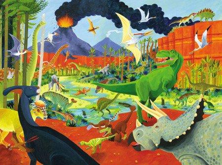 Puzzle 300el., motyw dinozaury, Crocodile Creek