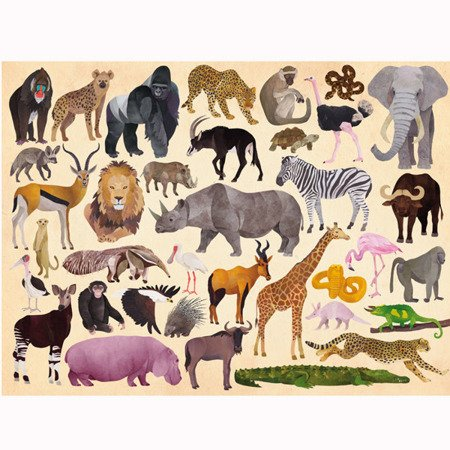 Puzzle 300el., motyw dzikie zwierzęta, CC