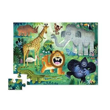 Puzzle 36 el. Bardzo dzikie zwierzęta