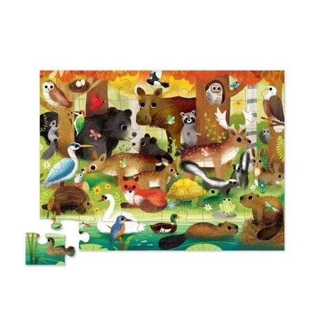 Puzzle 36 elem. Leśni przyjaciele