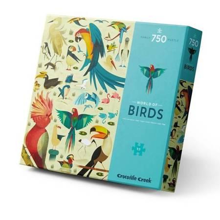 Puzzle 750 el. - Świat Ptaków