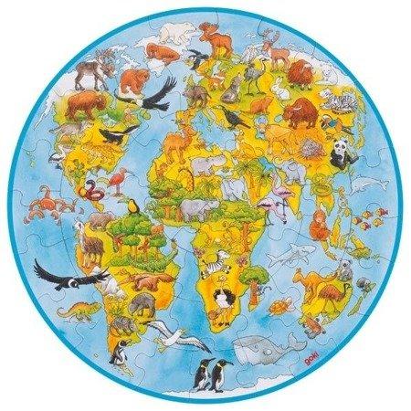 Puzzle XXL świat - okrągłe