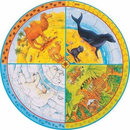 Puzzle XXL zwierzęta - okrągłe