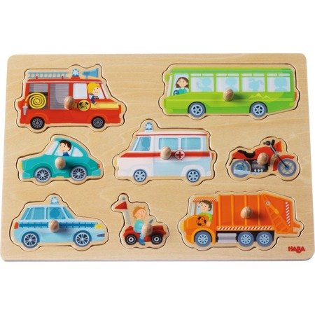 Puzzle nakładane - Pojazdy