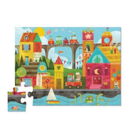 Puzzle podłogowe 24 el. Wczesna edukacja - kształty w mieście, Crocodile Creek 4185-1