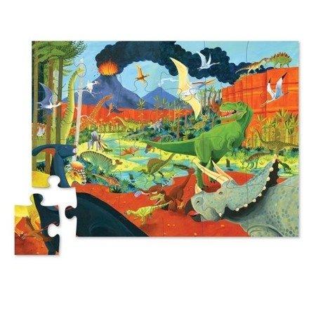 Puzzle w tubie 24 elem. Ziemia dinozaurów
