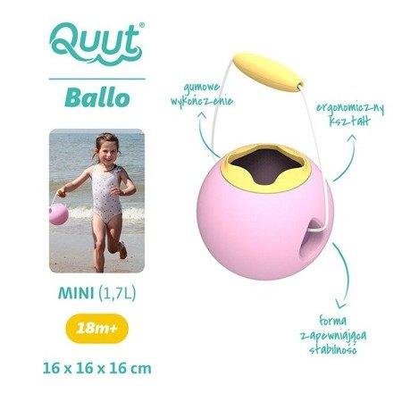 QUUT Małe wiaderko wielofunkcyjne Mini Ballo Sweet Pink + Yellow Stone