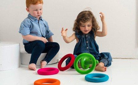 Rubbabu Zestaw do gry w obręcze sensoryczny