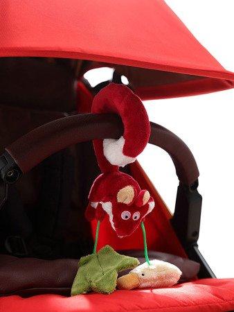 SIGIKID Miękka zawieszka do fotelika lub wózka Lis z grzechotką i szeleszczącą folią