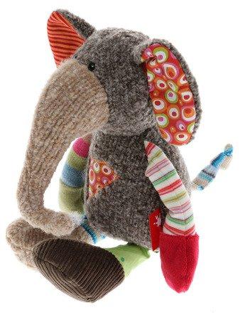 SIGIKID Szaro-beżowy słoń 28 cm Patchwork Sweety