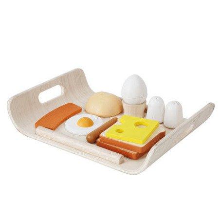 Śniadanie na tacy - drewniany zestaw do zabawy, Plan Toys PLTO-3415